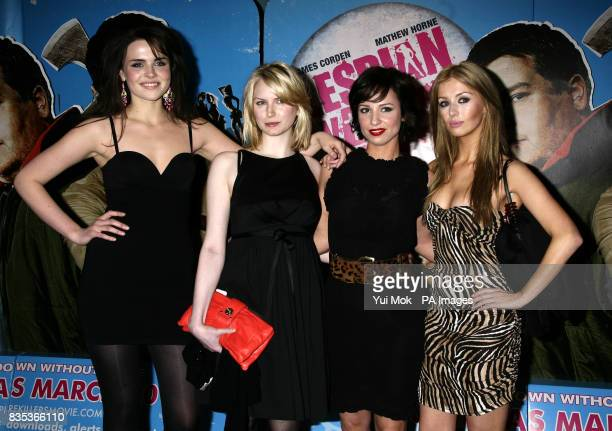 Emer Kenny, Louise Dylan, Lucy Gaskell and Ashley Mulheron arriving for the gala premiere of Lesbian Vampire Killers, at The Vue in Leicester Square,...