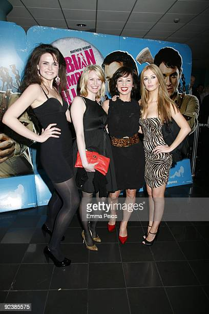 Emer Kenny , Louise Dylan, Lucy Gaskell and Ashley Mulheron attends the VIP Screening of Lesbian Vampire Killers at Vue Cinema on March 17, 2009 in...
