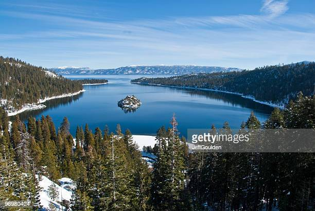 Fannette Island, Emerald Bay, Lake Tahoe and the Sierra Nevada