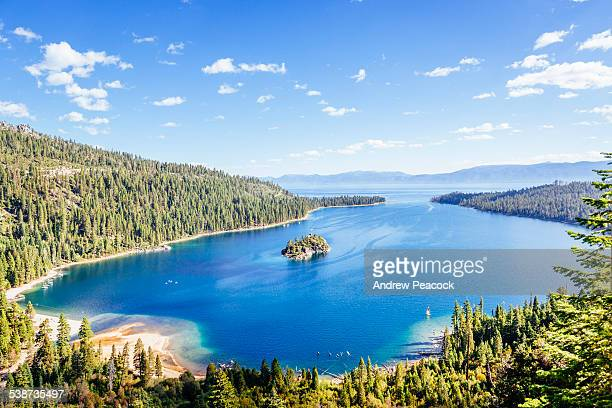 emerald bay, lake tahoe - emerald bay lake tahoe stock pictures, royalty-free photos & images