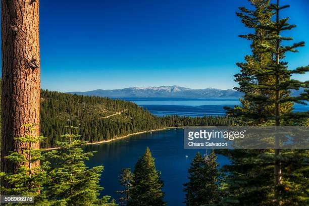 emerald bay - lake tahoe - emerald bay lake tahoe stock pictures, royalty-free photos & images