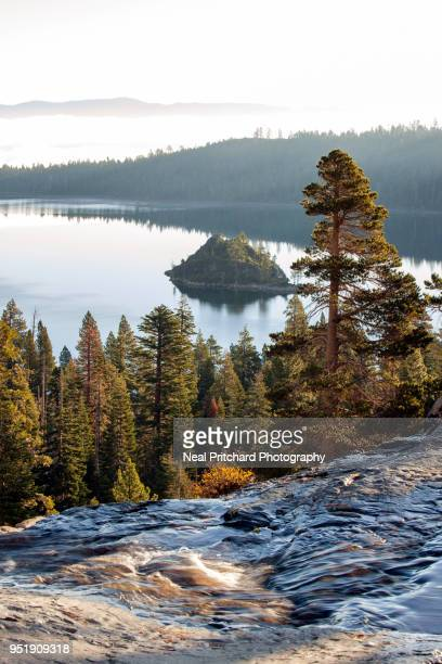 emerald bay lake tahoe - emerald bay lake tahoe stock pictures, royalty-free photos & images