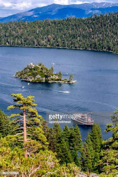 emerald bay of lake tahoe, ca - emerald bay lake tahoe stock pictures, royalty-free photos & images