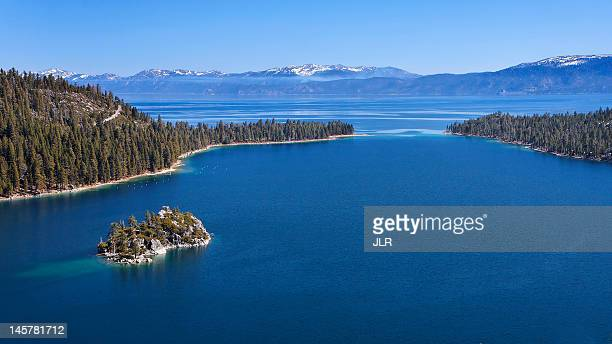 emerald bay - emerald bay lake tahoe stock pictures, royalty-free photos & images