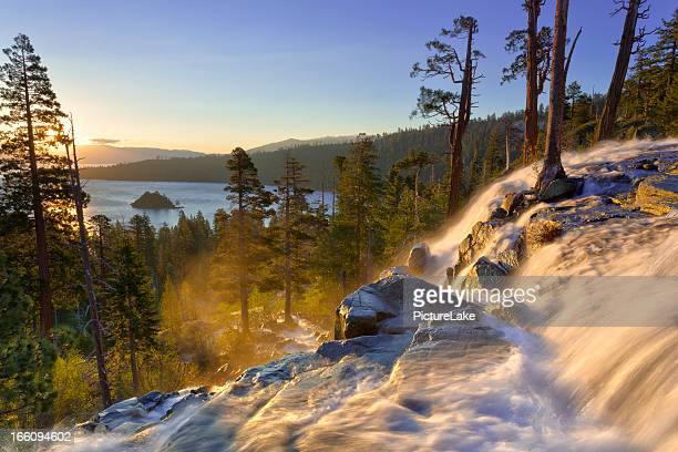emerald bay sunrise, lake tahoe - north stock pictures, royalty-free photos & images