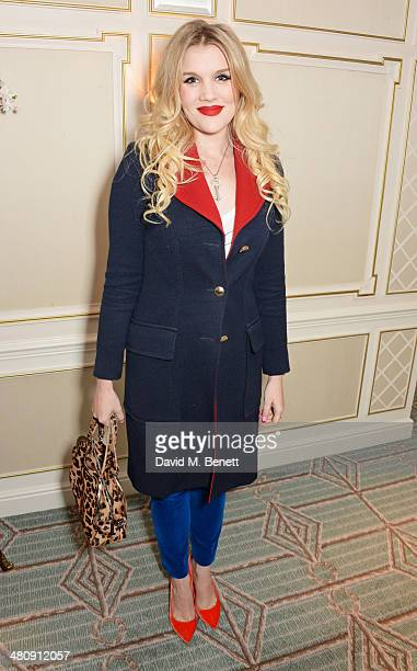 Emerald Fennell attends the launch of 'Mrs Alice In Her Palace' hosted by Alice Naylor Leyland at Fortnum Mason on March 27 2014 in London England