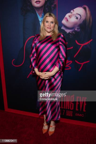 Emerald Fennell attends the premiere of BBC America and AMC's 'Killing Eve' at ArcLight Hollywood on April 01 2019 in Hollywood California