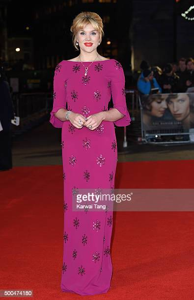Emerald Fennell attends the UK Film Premiere of The Danish Girl on December 8 2015 in London United Kingdom