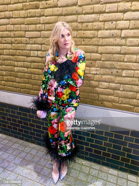 Emerald Fennell poses at the Ham Yard Hotel for the 2021 Critics Choice Awards on March 8, 2021 in London England.