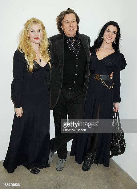 Emerald Fennell Theo Fennell and Coco Fennell attend the launch of Louise Fennell's debut novel Dead Rich at White Cube on February 8 2012 in London...