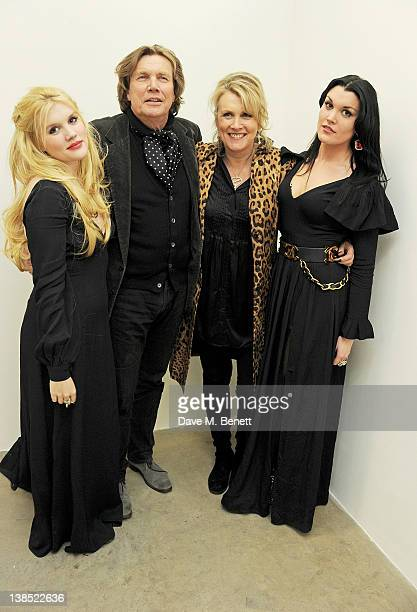 Emerald Fennell Theo Fennell Louise Fennell and Coco Fennell attend the launch of Louise Fennell's debut novel Dead Rich at White Cube on February 8...