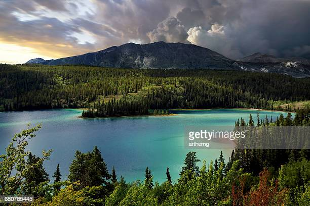 Emerald Lake, Southern Yukon, Canada