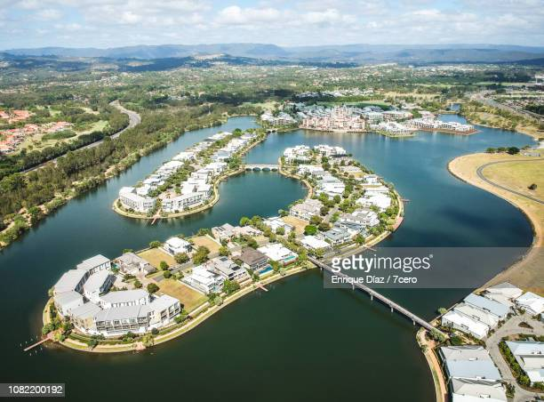 emerald lakes from the sky - emerald green stock pictures, royalty-free photos & images