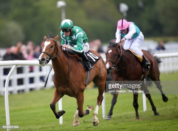 Emerald Star ridden by Daniele Porcu comes home to win The Follow Scoop6 At totepoolliveinfocom Chartwell Fillies Stakes during the Derby Trial...