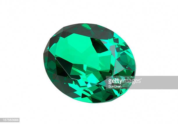 emerald stone in oval - emerald gemstone stock pictures, royalty-free photos & images