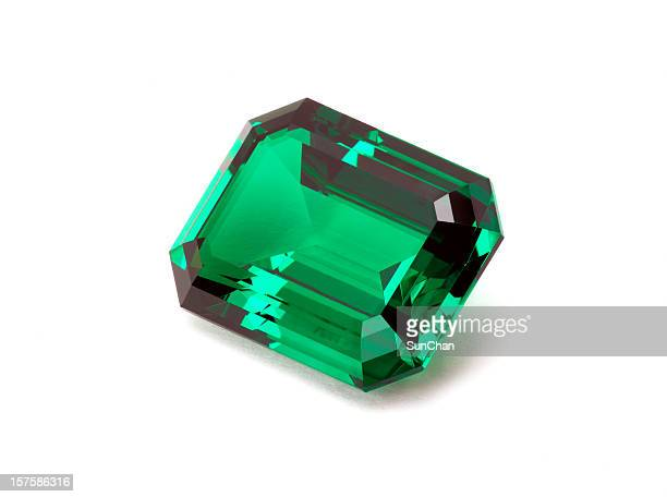 emerald stone - gemstone stock pictures, royalty-free photos & images