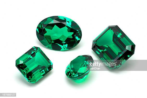 emerald stone - precious gemstone stock pictures, royalty-free photos & images
