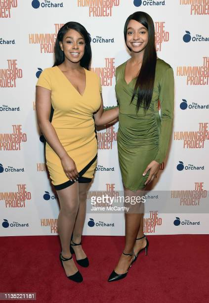 """Emerald Vickers and Mackenzie Vickers attend """"The Hummingbird Project"""" New York Screening at Metrograph on March 11, 2019 in New York City."""
