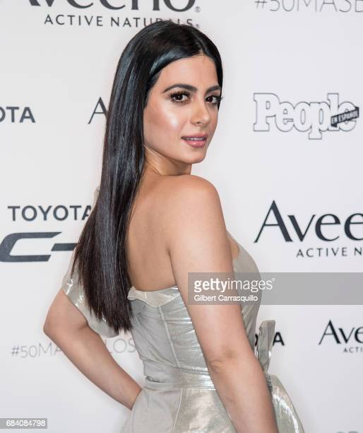 Emeraude Toubia arrives at People en Espanol's 50 Most Beautiful Gala 2017 at Espace on May 16 2017 in New York City