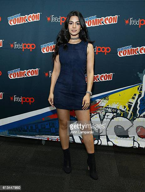 Emeraude Toubia attends Shadowhunters press conference during the 2016 New York Comic Con day 3 on October 8 2016 in New York City