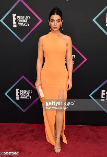 Emeraude Toubia attends the People's Choice Awards 2018 at Barker Hangar on November 11 2018 in Santa Monica California