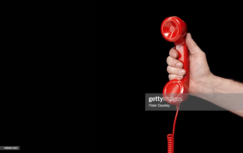 Emergencies and disaster hotline : Stock Photo