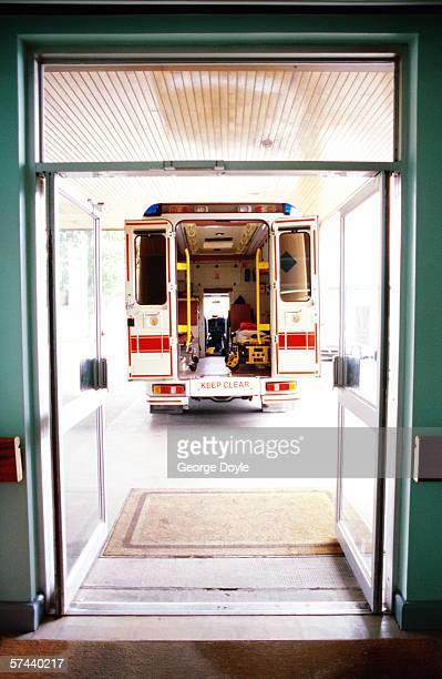emergency ambulance entrance to the hospital