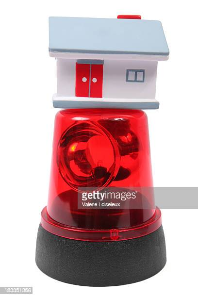 emergency and house - red alert 2 stock pictures, royalty-free photos & images