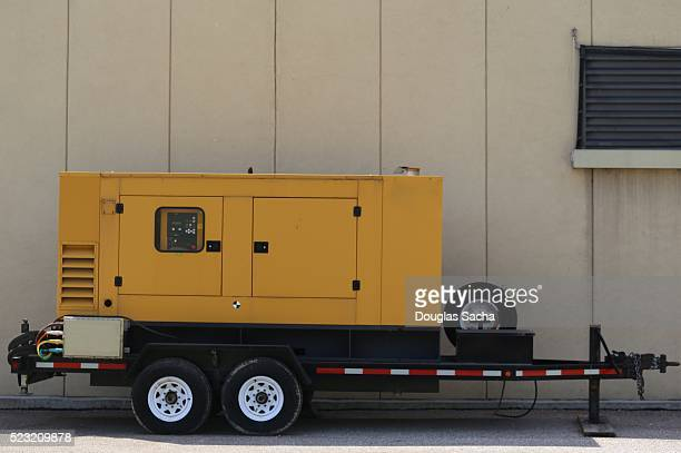 Emergency backup Electric Generator on a moveable trailor