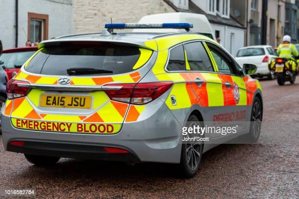 Emergency blood car