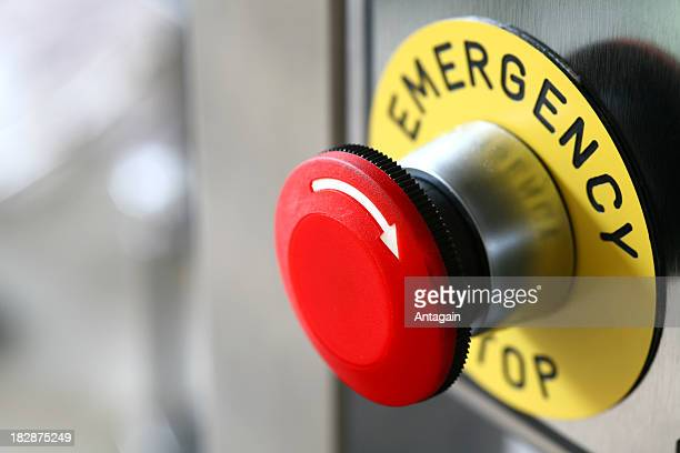 emergency button on the machine