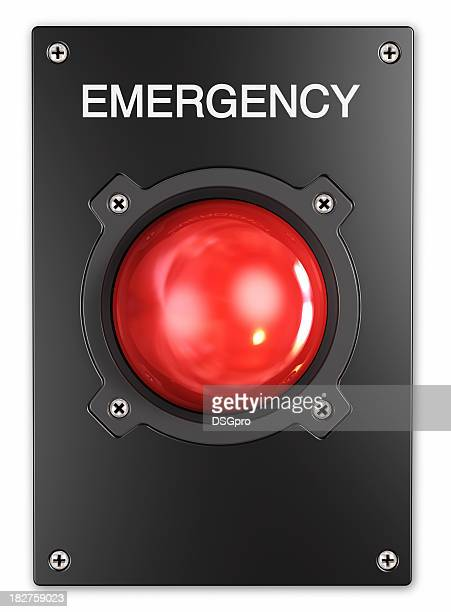 emergency button. - danger stock photos and pictures