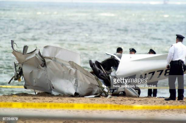 Emergency crews are on the scene of a small plane crash on the beach at W 16th St on Coney Island Pilot Endrew Ellen of Jamaica Queens was taking...