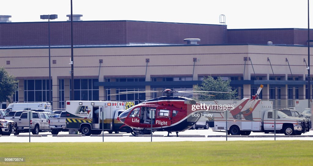 Shooter Reported  At Santa Fe High School In Texas : News Photo
