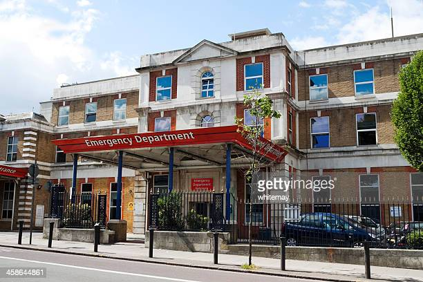 emergency department at king's college hospital, london - king's college london stock pictures, royalty-free photos & images