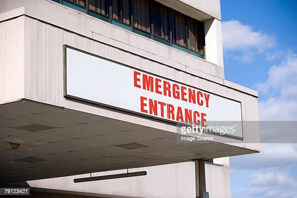 emergency entrance - entrance sign stock pictures, royalty-free photos & images