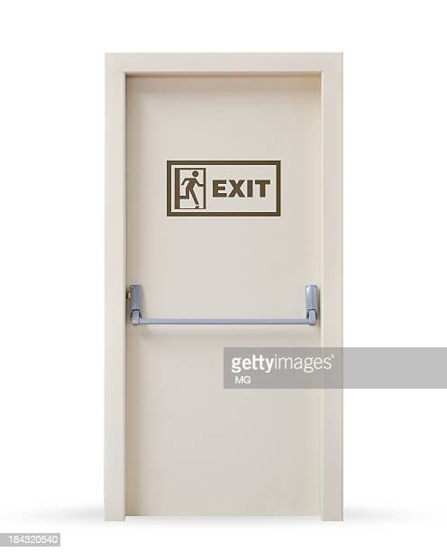 emergency exit door - exit sign stock pictures, royalty-free photos & images