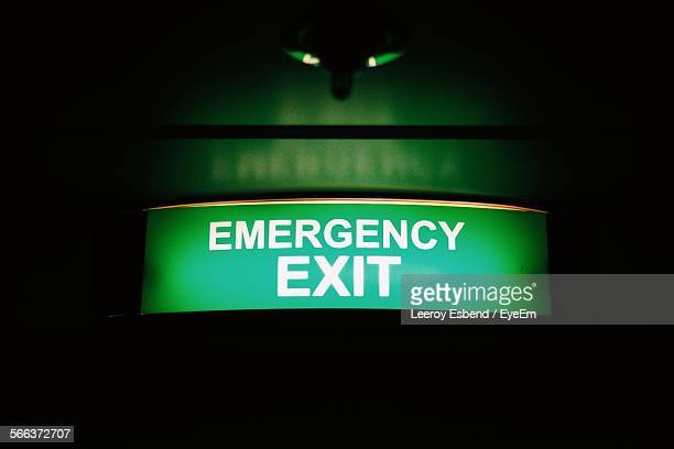 Emergency Exit Sign On Wall