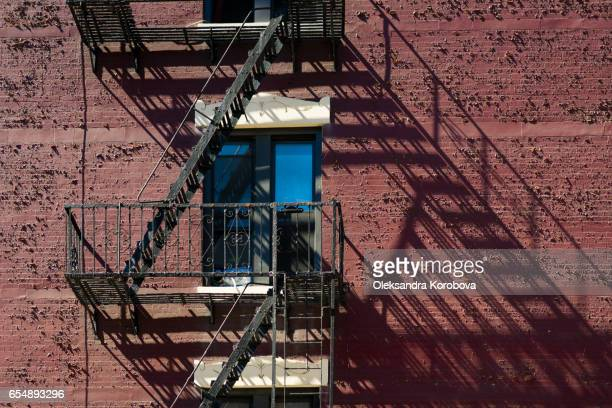 Emergency fire escape in New York City.