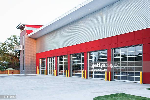 emergency fire hall building - fire station stock photos and pictures