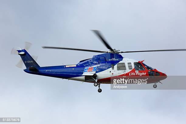 Emergency life flight helicopter at Halifax Stanley International Airport