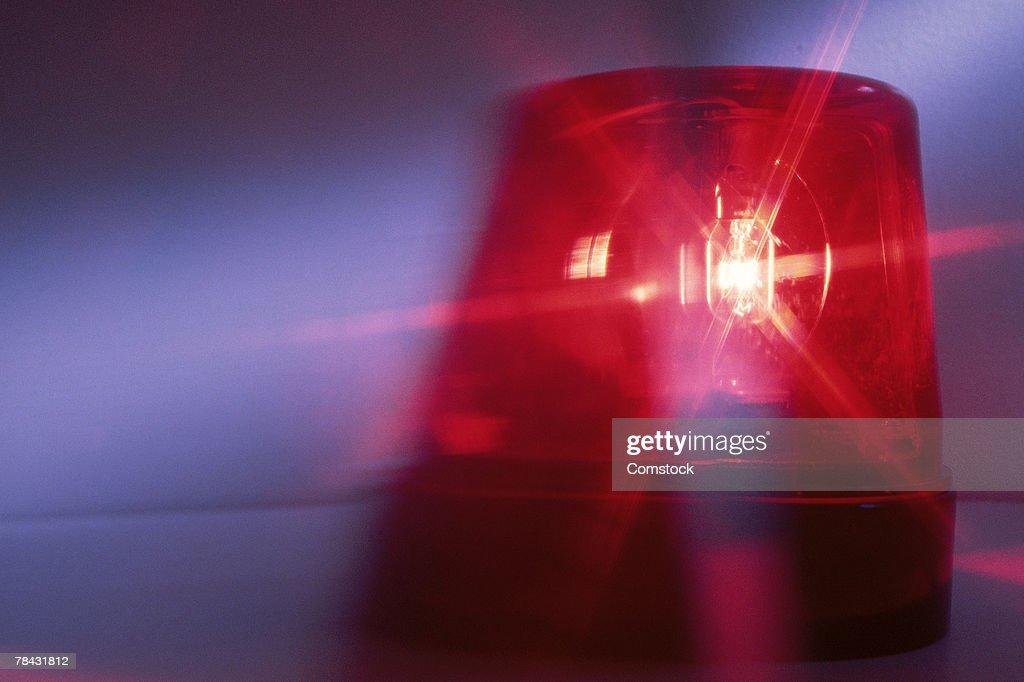 Emergency light on vehicle : Stock Photo