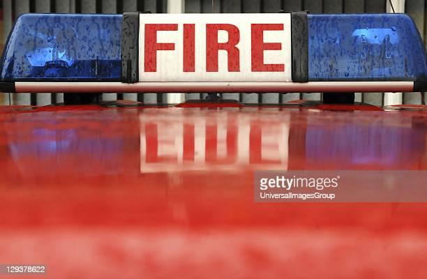 Emergency lights of fire engine