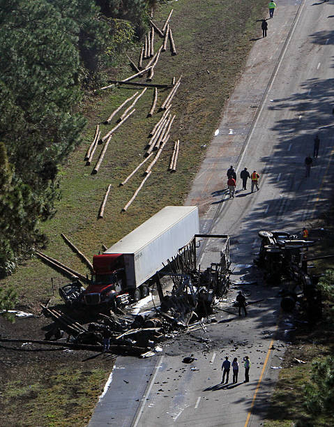 I-95 tractor-trailer crash Pictures | Getty Images