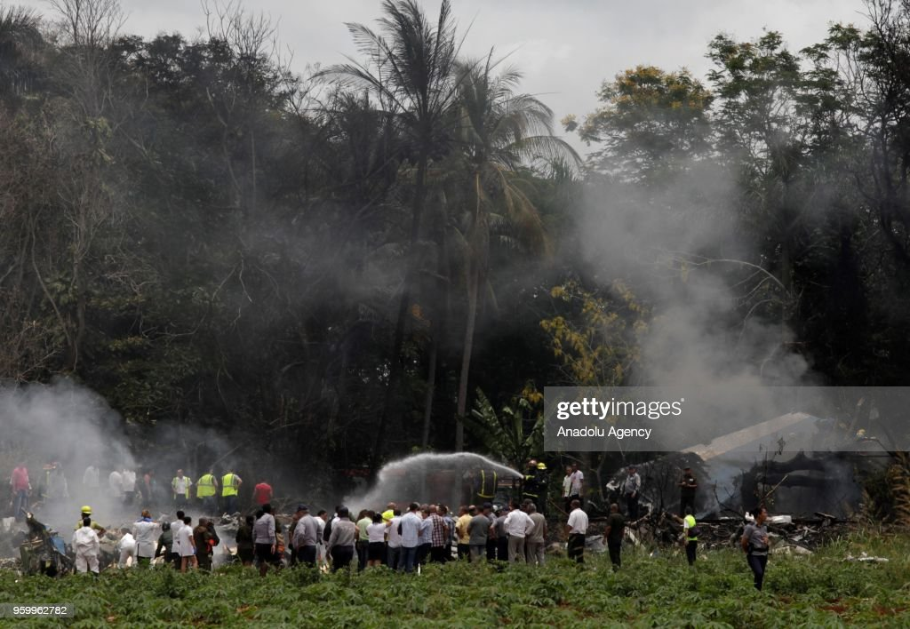 Passenger plane with over 100 aboard crashes in Cuba : News Photo