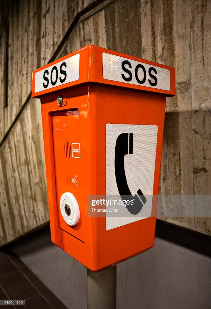 Emergency phone : Stock Photo
