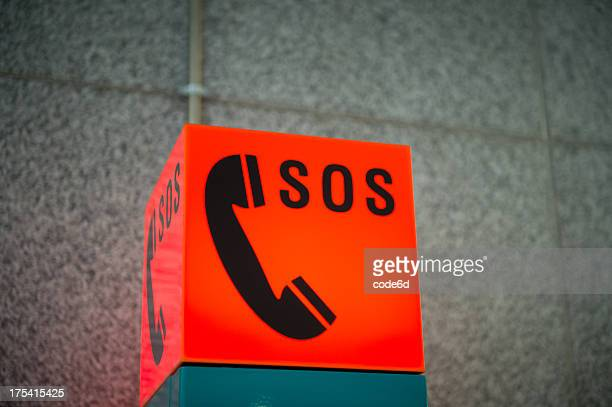 sos 緊急電話の標識 - sos ストックフォトと画像