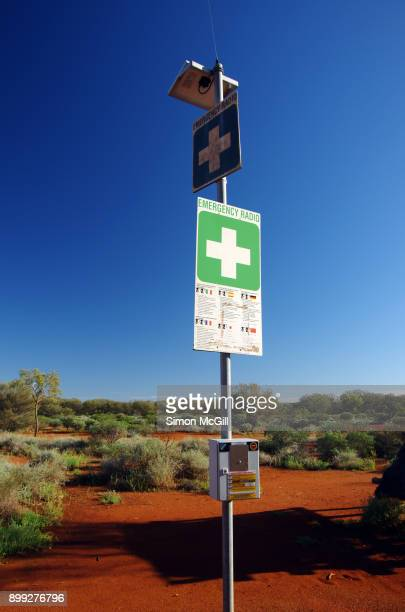 Emergency Radio at the north east side of Uluru, Uluru-Kata Tjuta National Park, Northern Territory, Australia