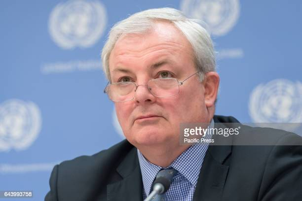 Emergency Relief Coordinator Stephen O'Brien speaks with the press United Nations SecretaryGeneral Antonio Guterres was joined by UN Development...