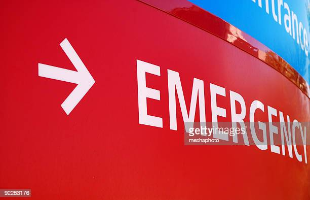 emergency room sign - medevac stock photos and pictures
